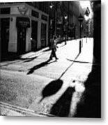 Walking In London Metal Print