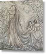 Walking In The Magic Garden Metal Print