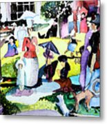 Walking In The Park Metal Print by Mindy Newman