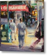 Walking In The West Village Metal Print