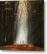 Walking Into The Light Metal Print