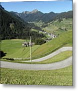 Walking Near Niederdorf In The Dolomites Metal Print