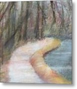 Walking The C And O Canal Metal Print