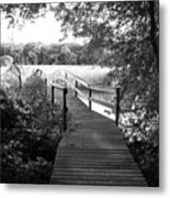 Walking Out Metal Print