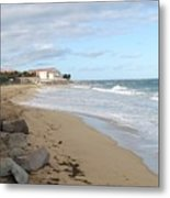 Walking The Beach In St Kitts Metal Print