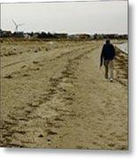 Walking The Beach Metal Print