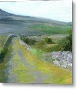 Walking the Burren Metal Print