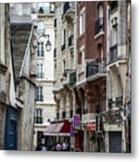 Walking The Streets Of Paris Metal Print