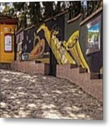 Walking The Streets Of Santa Lucia - 1 Metal Print