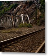 Walking The Tracks Metal Print