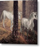 Walking Unicorns Metal Print