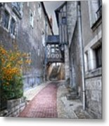 Walking Up The Street Metal Print
