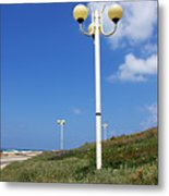 walkway along the Tel Aviv beach Metal Print