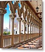 Walkway At The Venetian Hotel Metal Print
