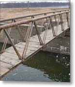 Walkway Over The Canal Metal Print