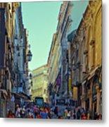 Walkway Over The Street - Lisbon Metal Print