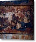 Wall By Wood Metal Print
