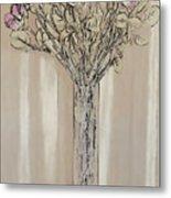 Wall Flower Decoration Metal Print