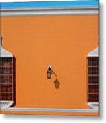 Wall Lamp And Windows In Trujillo In Peru Metal Print