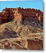 Wall Of Goblins Along  Carmel Canyon Trail In Goblin Valley State Park, Utah   Metal Print