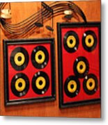 Wall Of Records Metal Print