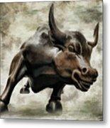 Wall Street Bull Viii Metal Print