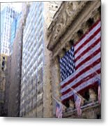 Wall Street, Nyc Metal Print