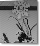 Wall Surfing With A Snow Flake Metal Print