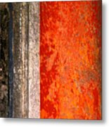 Wall With Red By Michael Fitzpatrick Metal Print