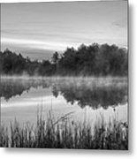 Wallis Sands Marsh Smoke On The Water Rye Nh Black And White Metal Print