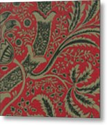 Wallpaper Sample With Bamboo Pattern By William Morris Metal Print