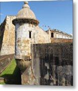 Walls Of San Cristobal Fort San Juan Puerto Rico  Metal Print by George Oze