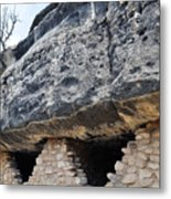 Walnut Canyon National Monument Cliff Dwellings Metal Print