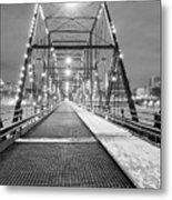 Walnut St. Bridge At Night Metal Print
