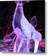 Walrus Ice Art Sculpture - Alaska Metal Print