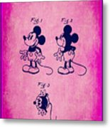 Walt Disney Mickey Mouse Toy Patent 2g Metal Print