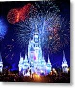 Walt Disney World Fireworks  Metal Print