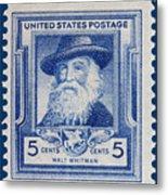 Walt Whitman Postage Stamp Metal Print