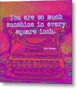 Walt Whitman Quote Typewriter Metal Print