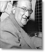 Walter O'malley President Of The Brooklkyn Dodgers. 1955 Metal Print