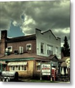 Walt's Diner - Vintage Postcard Metal Print