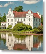 Wanas Castle And Reflection Metal Print