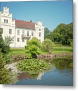 Wanas Castle Duck Pond Metal Print