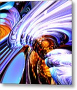 Wandering Helix Abstract Metal Print
