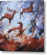 Wapiti- Petroglyph Metal Print