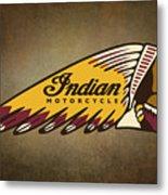 War Bonnet Indian Motorcycle Vintage Logo Metal Print