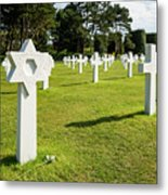 War Crosses In Normandy Metal Print