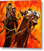 War Horses Metal Print