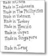 War Made For Big Business Metal Print