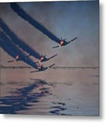 Warbirds On Mission Metal Print